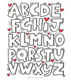 Lettering alohabet