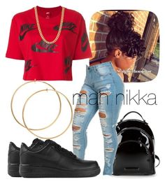 """mah nikka"" by love-mii-aaliyah on Polyvore featuring Kendall + Kylie and NIKE"
