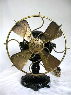 "Diehl Mfg Co. 9"" Ornate Base DC fan Circa 1906"
