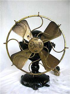 "Diehl Mfg Co. 9"" Ornate Base DC fan Circa 1906"