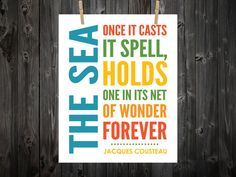 The Sea Once it Casts it Spell Holds one in by BentonParkPrints, $12.00