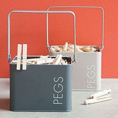 Peg tins from Howards