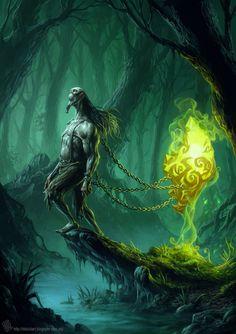 Art style, Environmental design - Dark Forest _ Cruel Jack by EdCid on deviantART