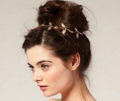 Linda tiara de folhas