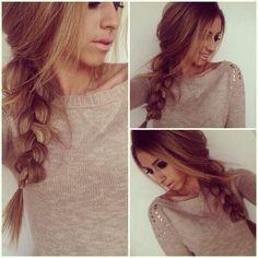 loosened hair braid style