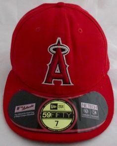 New Era 59FIFTY Cap LA ANGELS RED On Field MLB Authentic Fitted 5950 HAT SZ  7  NewEra59Fifty  BaseballCap  LosAngelesANGELS de80eb74a0c7