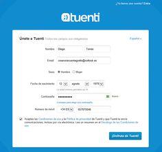 Cómo crear une cuenta en Tuenti