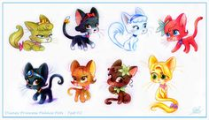 Disney princesses as cats