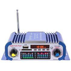 Power car HY601 Hi-Fi 12V Digital Auto Car Stereo Power Amplifier Sound Mode LED Audio Music Player Support USB MP3 DVD SD FM