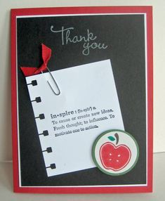 CUTE teacher card - although most of them don't use blackboards any more!! :(