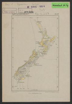 Vegetationskarte von Neuseeland; Rar K 237