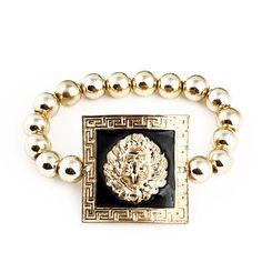 New Arrived Fashion Alloy Lion Head Shape Beads Bracelets