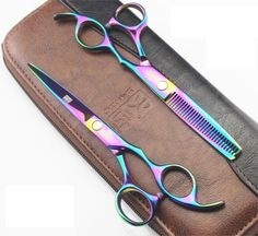 Buy Online Free Shipping - Hair Cutting & Hair Thinning Shears With Case Cover. #WomenHairAccessories #ShopOnline #MehdiGinger