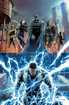 Batman and the Outsiders cover art by Tyler Kirkham – Dc universe Dc Comics Heroes, Dc Comics Characters, Dc Comics Art, Comic Book Heroes, Marvel Dc Comics, Comic Books Art, Book Art, Batman Art, Batman And Superman