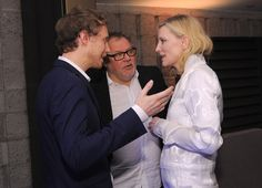 Actress Cate Blanchett and Laszlo Nemes at the Foreign Language Film Award Directors Reception at the Academy of Motion Picture Arts And Sciences on (February 26, 2016) in Los Angeles, California