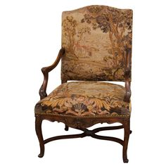 Louis XIV Style Fauteil With Tapestry