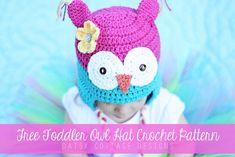 Free Owl Hat Crochet Pattern {Toddler Size} #freecrochetpattern #owl #crochet #daisycottagedesigns
