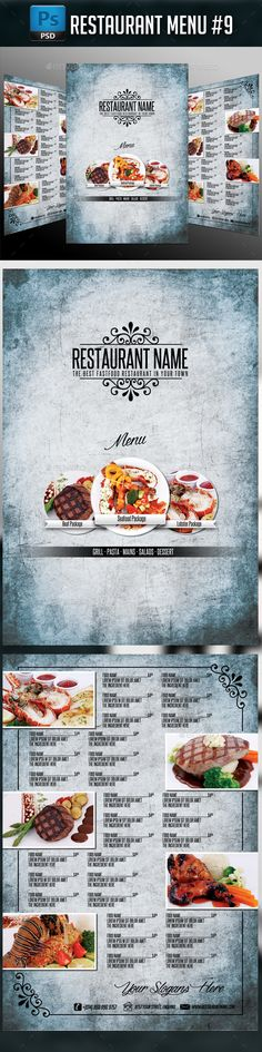 Restaurant Menu Template #design Download: http://graphicriver.net/item/restaurant-menu-9/12620844?ref=ksioks
