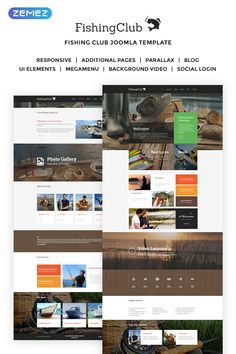 Fishing Responsive Joomla Template - Joomla Templates - Ideas of Joomla Templates - Fishing Responsive Joomla Template Web Design Software, Joomla Templates, Diving Equipment, Ui Elements, Getting To Know, Simple Designs, Cool Photos, Photo Galleries, About Me Blog