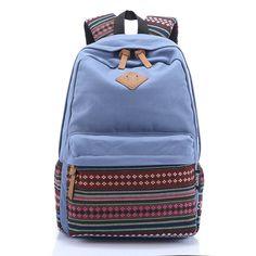 SUNBORLS Brand Korean Canvas Printing Backpack Women School Bags for Teenage  Girls Cute Rucksack Vintage Laptop Backpacks Female a6b50ac73c