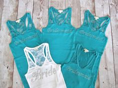 Hey, I found this really awesome Etsy listing at https://www.etsy.com/listing/130353865/5-bridesmaid-tank-top-shirt-half-lace