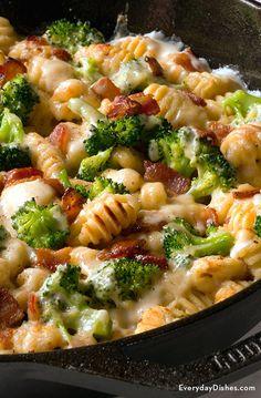 Bacon Recipes, Casserole Recipes, Pasta Recipes, New Recipes, Vegetarian Recipes, Cooking Recipes, Healthy Recipes, Recipes With Gnocchi, Best Gnocchi Recipe