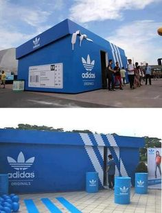 Adidas Pop Up Store. great individual idea for brand very unique love that