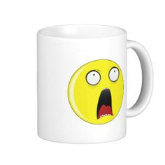 Happy Smiley Face Horror Coffee Mugs #mugs #Funny #gifts