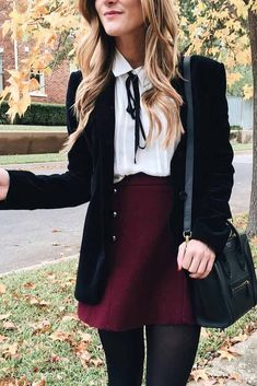 Back To School Outfits With Skirt And Blouse ★ Cute casual back to school outfits for teens, highschool and for college, to make your first day of school unforgettable! ★ # preppy Outfits 48 Cool Back to School Outfits Ideas for the Flawless Look Adrette Outfits, Outfits Damen, Fall Outfits, Fashion Outfits, Womens Fashion, Preppy Girl Outfits, Preppy Outfits For School, Preppy Fashion, Cute Nerd Outfits