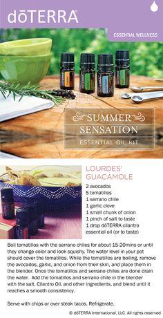Recipe for guacamole made with dōTERRA cilantro essential oil.