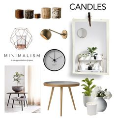"""""""Minimal Candle Decor"""" by hellodollface ❤ liked on Polyvore featuring interior, interiors, interior design, casa, home decor, interior decorating, Bloomingville, Georg Jensen, Crate and Barrel e decoratewithcandles"""