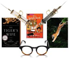 """The Tiger's Wife literary mood board { Article: Literary Mood Board: The Tiger's Wife } ★ """"Wash the bones, bring the body, leave the heart behind."""" Just read Téa Obreht's novel, The Tiger's Wife—haunting! #literarymood"""