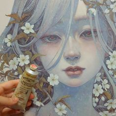 Art by Miho Hirano Art And Illustration, Illustrations, Kunst Inspo, Art Inspo, Fantasy Kunst, Fantasy Art, Manga Art, Anime Art, Anime Kunst