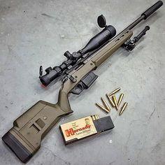 "gundoseig: "" Follow @gunlist @sabalarms ・・・ The new Magpul OD Green Hunter 700…"