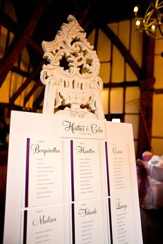 Inspiration for weddings and interiors: Real Wedding - table plan