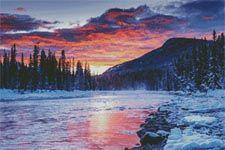 Winter Sunset - Cross Stitch Chart