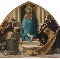 Honoring Mary: Scholarship, Art, & Faith – Nicolò Barabino – Faith with Representations of the Arts (La Fede con i Rappresentanti delle Arti)