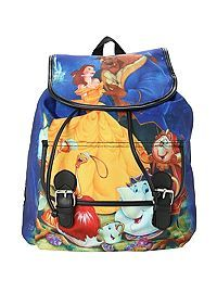 This Disney Beauty And The Beast Slouch Backpack is great for taking to the parks! - HOTTOPIC.COM #beautyandthebeast