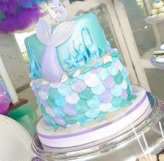 Little mermaid cake. Pearl pastel colors