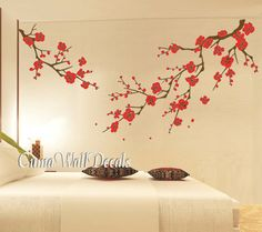 1000 images about wall decals on pinterest wall decals for Cherry blossom mural on walls