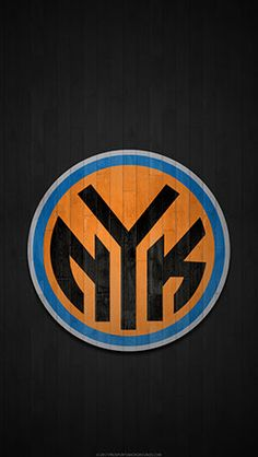 New York Knicks Mobile Hardwood Logo Wallpaper
