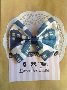 ETSY - Doctor Who Tardis Hair Bow (lavenderlattes)