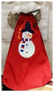 """This adorable raw edge applique snowman is perfect for Christmas stockings.  Four sizes are included 5x7 - 4.26 x 7.03"""" with 6033 stitches 6x10 - 6.10 x 9.99"""" with 10548 stitches 7x12 - 6.90 x 11.29"""" with 12779 stitches 8x12 - 7.09 x 11.61"""" with 13359 stitches  DST, EXP, HUS, XXX, VIP, VP3, JEF, PES formats and full instructions.  Stitch out by the lovely Catherine Sala-Murray of Kat Strings, you can see more of  Catherine's stunning work on her facebook page by clicking HERE"""