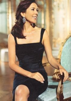 This is the crown Princess Mary of Denmark. She is one of my favourite royals. Isn't she lovely?