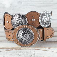 COWGIRL UP western style Embossed Metal Antique silver Pink color