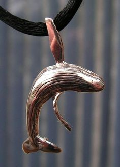 Sterling Silver Humpback Whale Pendant by westernmountain on Etsy, $20.00