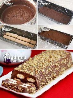 Pudding Cat Tongue Cake Recipe, How To - Turkish Recipes Easy Sweet Recipes, Cake Recipes, Dessert Recipes, Pasta Cake, Gluten Free Cupcakes, Summer Cakes, Turkish Recipes, Ice Cream Recipes, Yummy Cookies