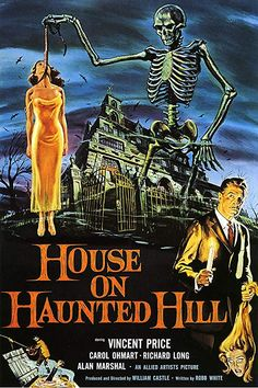 American Gift Services - Vintage Vincent Price Horror Movie Poster House on Haunted Hill - 18x24