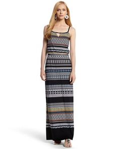 ed2842c8412 Knit Tribal-Striped Maxi from @White House Black Market. -$138.00 Striped  Maxi