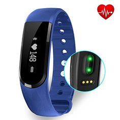 Fitness Tracker with Heart Rate monitor EIISON Z4 Activity Watch Step Walking Sleep Counter Wireless Wristband Pedometer Exercise Tracking Sweatproof Sports Bracelet for Android and Ios Blue * Learn more by visiting the image link.